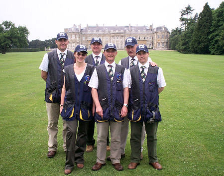 Some of the team on the back lawn at Luton Hoo
